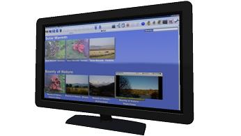 The Imaging PVR show library with  small TV screen using picture in graphics
